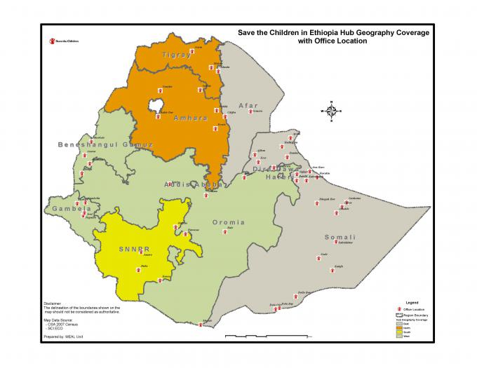 Where We Work   Ethiopia   Save the Children