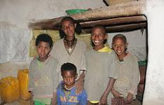Abeba Tesfay mother of six children is 37 years old. She lives in Maicheka village in Tigray region of Ethiopia with her five boys.