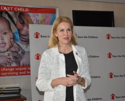 The newly appointed CEO of Save the Children International Helle Thorning-Schmidt visits drought-affected region as Ethiopia is in the grip of its worst drought in 50 years