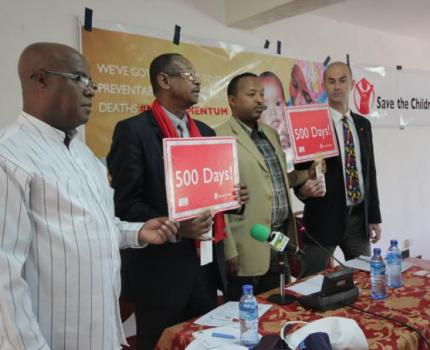 Members of Parliament, Save the Children mark 500 Days left to MDGs