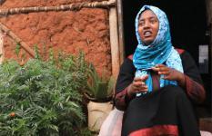 Seada, 14, at her home in Addis Abeba, Ethiopia