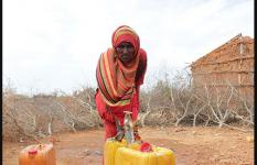 Momina fetching water from the water point