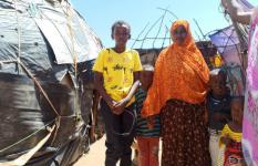 Abdi with his mother and siblings